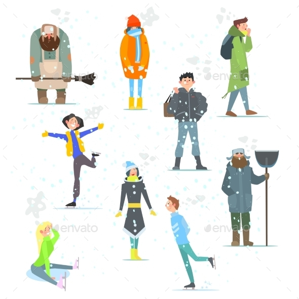 People in Winter - People Characters