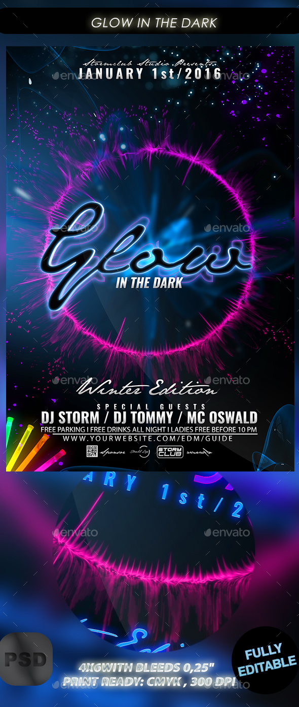 Glow in the Dark - Events Flyers