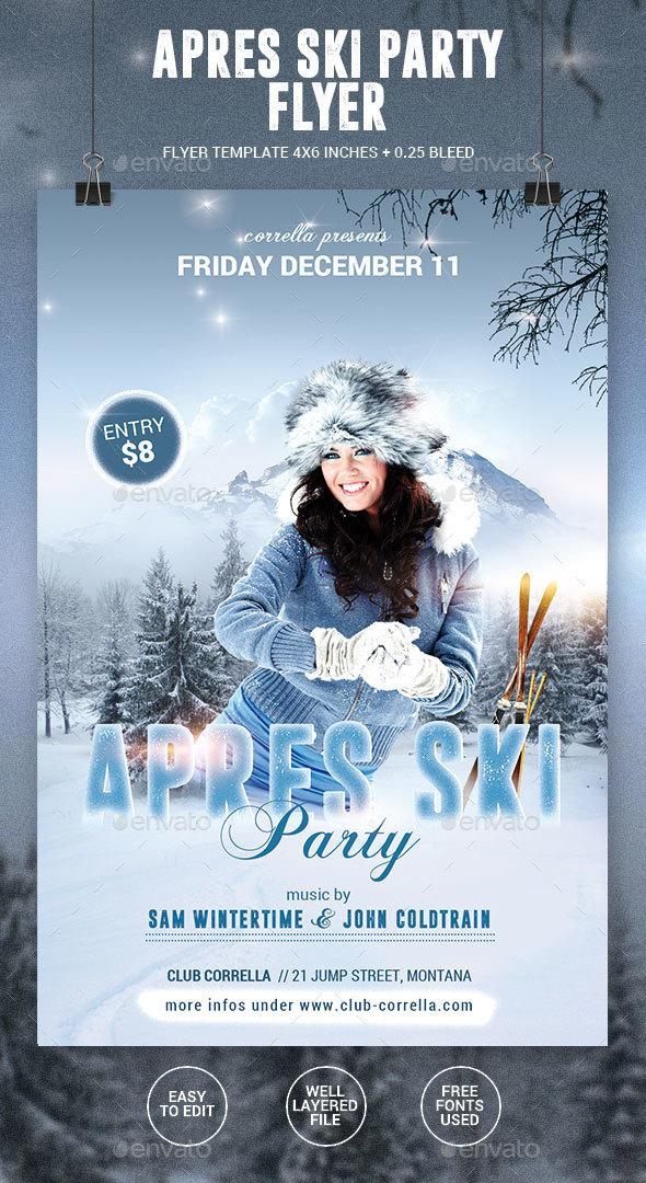 Apres Ski / Winter Party Flyer - Events Flyers
