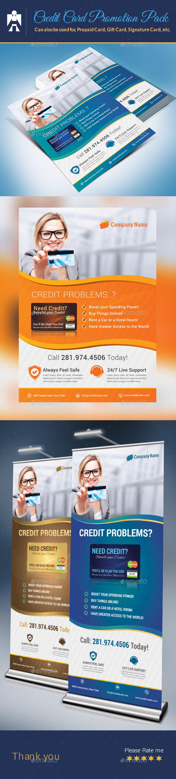 Credit Card Promotion Pack - Flyers Print Templates