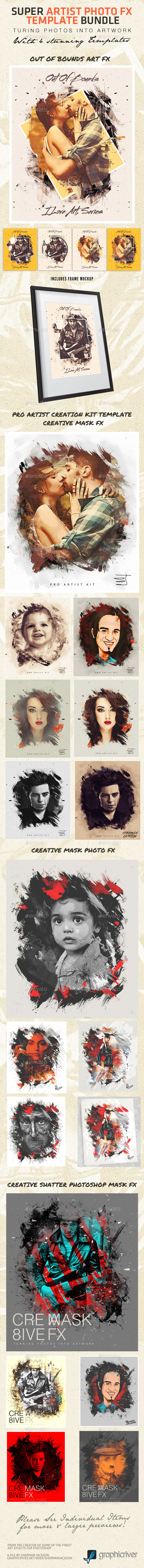 Super Artist Photo FX Template Bundle - Artistic Photo Templates