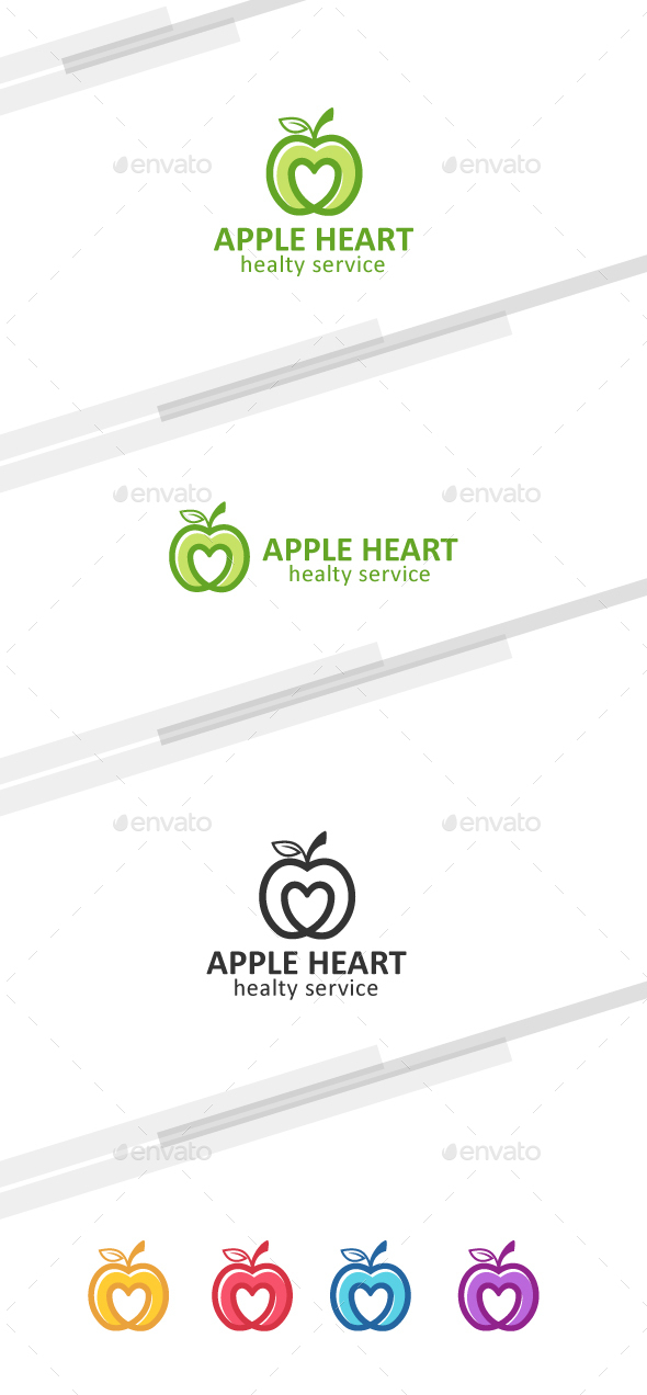 Healthy Apple - Nature Logo Templates