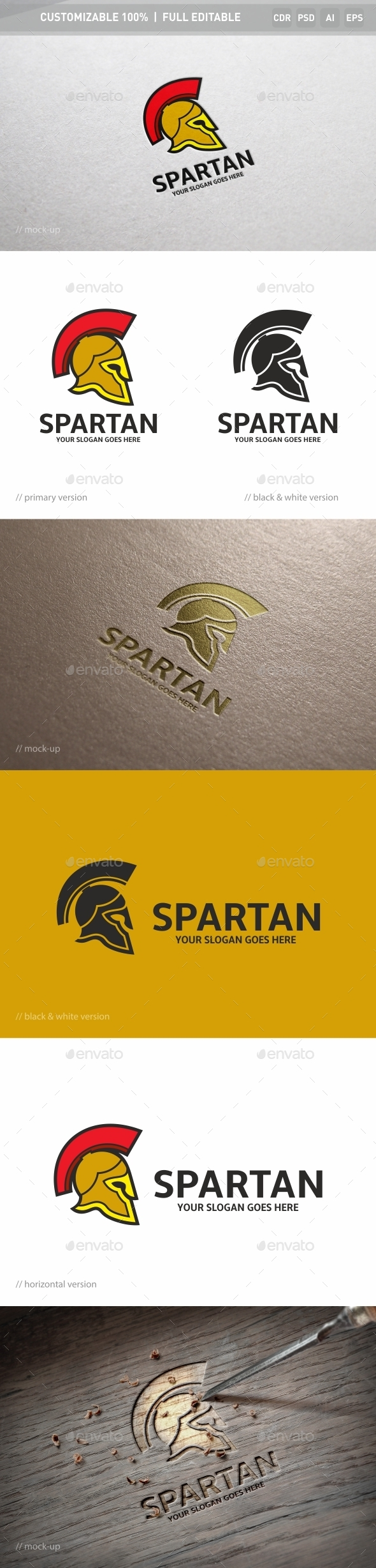 Spartan Logo Template - Objects Logo Templates