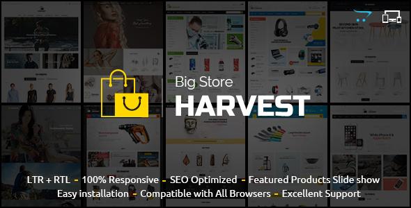 Harvest – Responsive Multipurpose OpenCart Theme