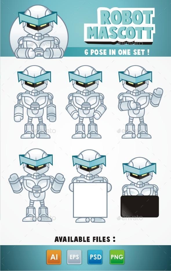 Robot Mascot  - Characters Vectors