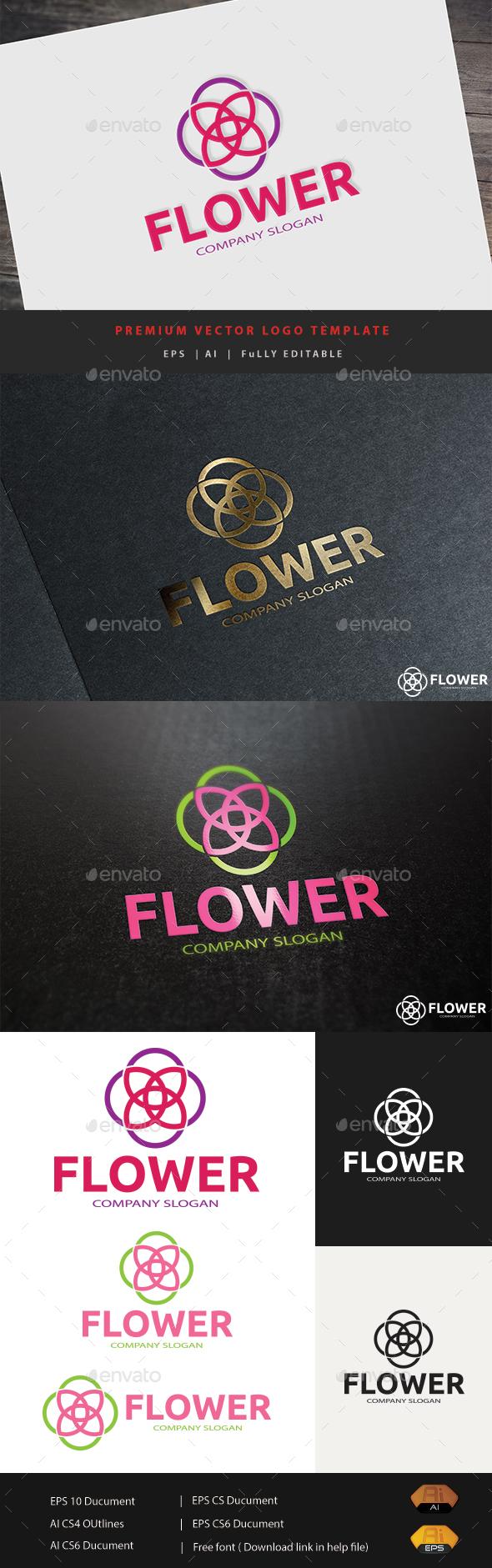 Flower Logo - Abstract Logo Templates