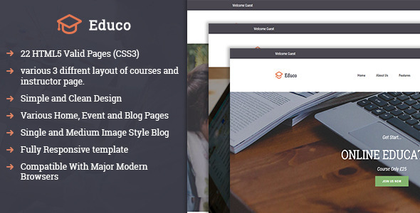 Educo Responsive HTML Template
