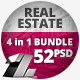 4 in 1 Bundle – 52 Real Estate Banner Campaign - GraphicRiver Item for Sale