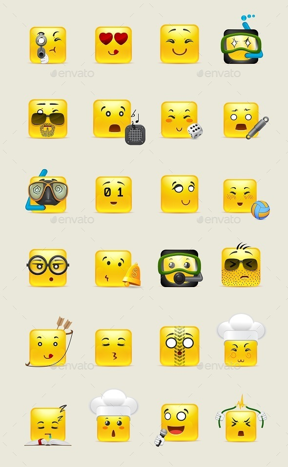 Square Anime Smilies - Miscellaneous Characters