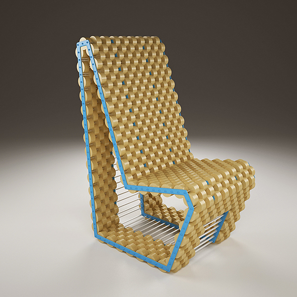 Cork Chair - 3DOcean Item for Sale