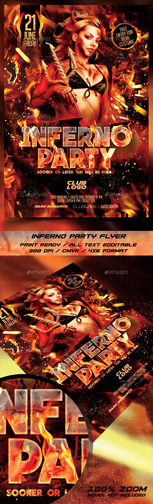 Inferno Party Flyer Templates - Events Flyers