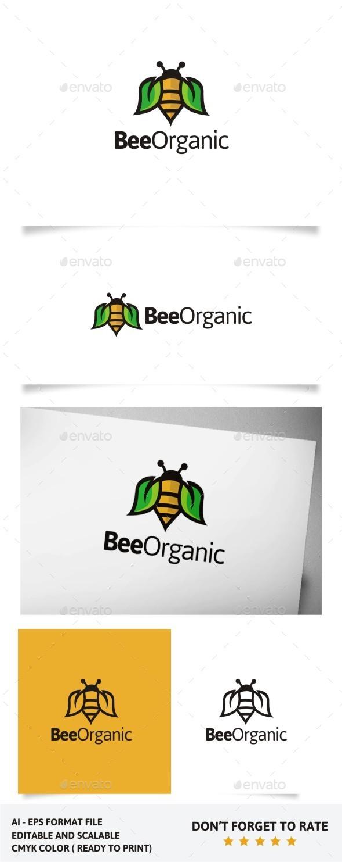 Bee Organic - Animals Logo Templates