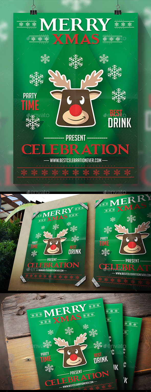 Christmas Reindeer Flyer - Holidays Events