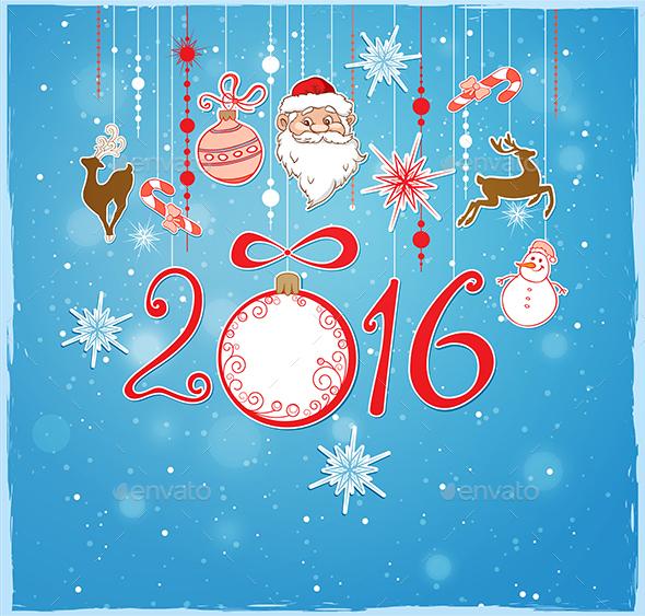 Decorations and Santa Claus - Christmas Seasons/Holidays