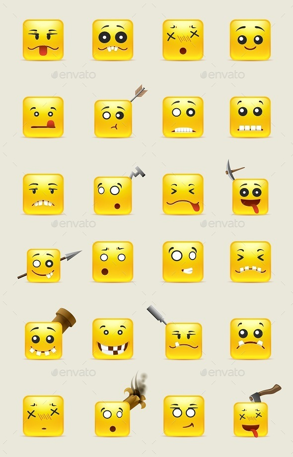 Crazy Square Smiles - Miscellaneous Characters