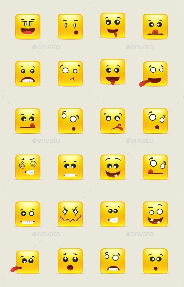 Yellow Square Smiles - Miscellaneous Characters