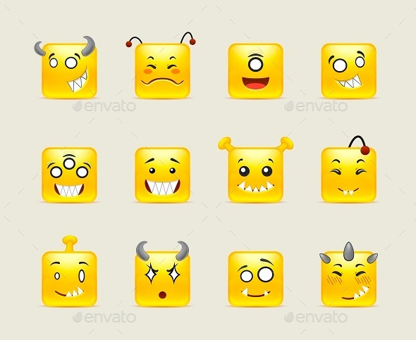 Aliens Smileys  - Miscellaneous Characters