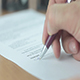 Man Signing Business Contract in the Office - VideoHive Item for Sale