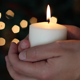 Holding a Candlelight - VideoHive Item for Sale
