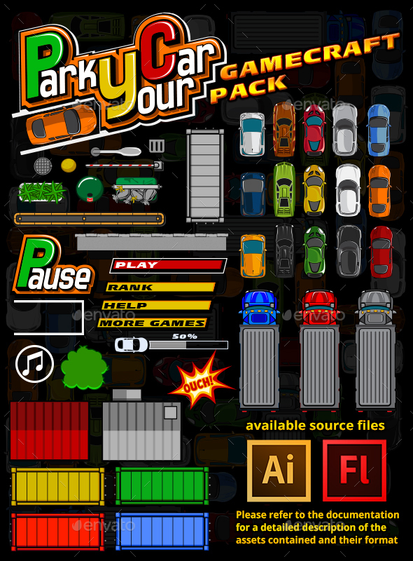 Drive Your Car Game Assets - Game Kits Game Assets