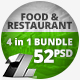 4 in 1 Bundle – 52 Food & Restaurant Web Banners - GraphicRiver Item for Sale