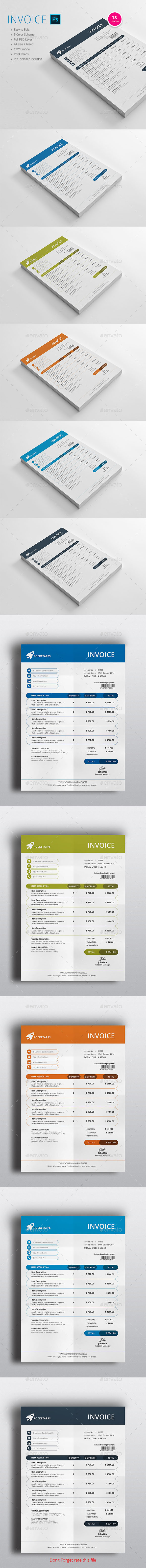 INVOICE DESIGN - Proposals & Invoices Stationery