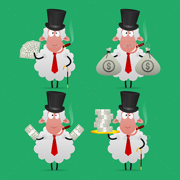 Sheep Banker - Animals Characters