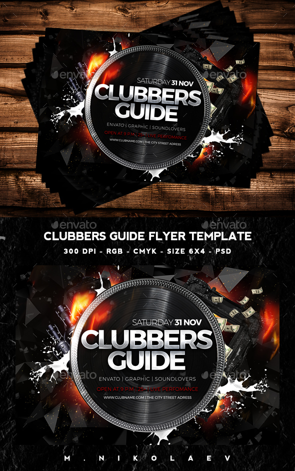 Clubbers Guide Flyer - Clubs & Parties Events