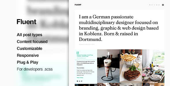 Fluent – Responsive, Grid Theme for Tumblr