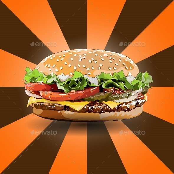 Burger Zoom Out - Food Objects