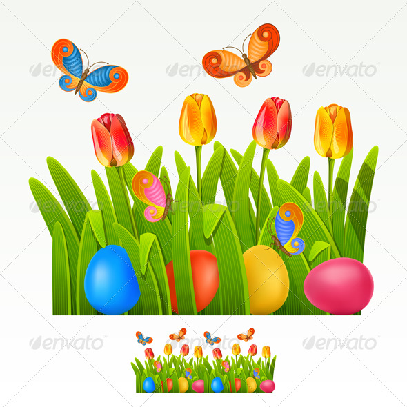 Easter border - Miscellaneous Seasons/Holidays