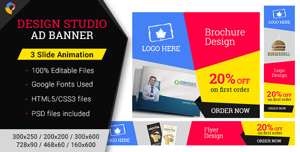 GWD | Design Studio Banner - 002 - CodeCanyon Item for Sale