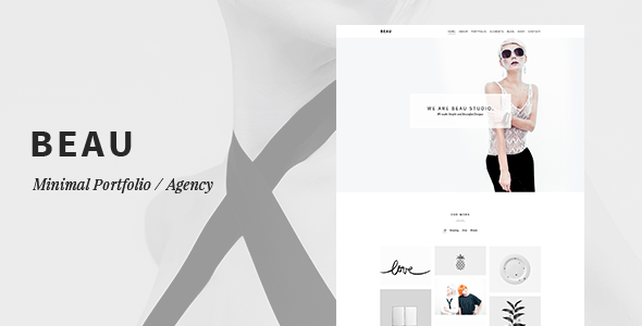 Beau - Minimal Portfolio/Agency WordPress Theme