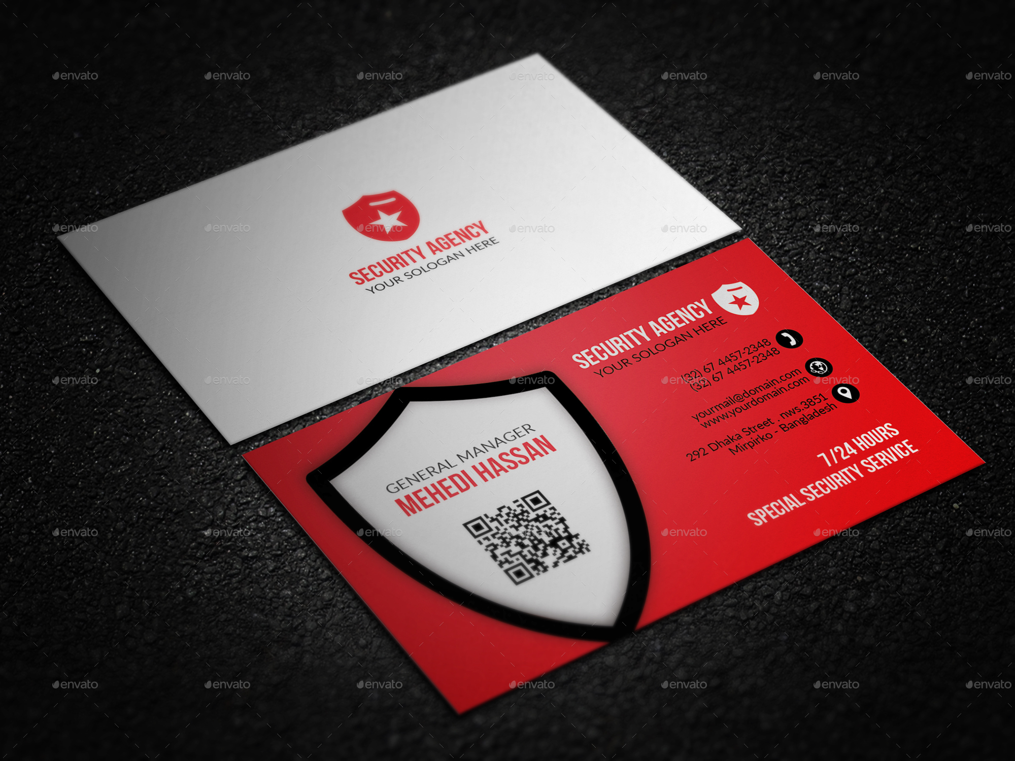 Security agency business card by mehedi hassan graphicriver for Cctv business card