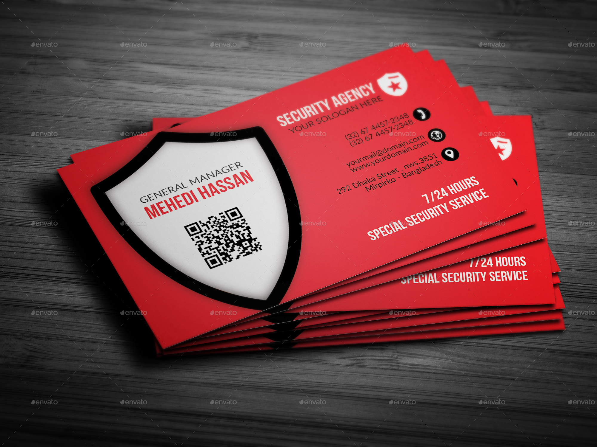 Security agency business card by mehedihassan graphicriver security agency business card colourmoves