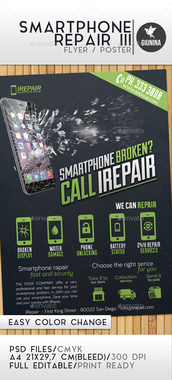 Smartphone Repair 3 Flyer Poster