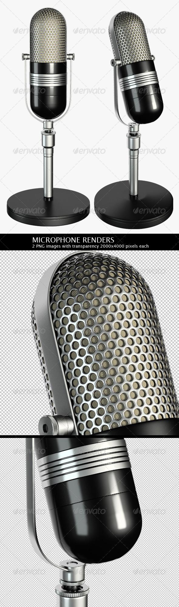 2 Microphone Renders - Objects 3D Renders