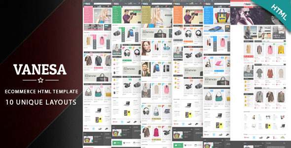 Vanesa - Responsive eCommerce HTML5 Template - Shopping Retail