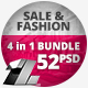 4 in 1 Bundle – 52 Sale & Fashion Web Banners - GraphicRiver Item for Sale