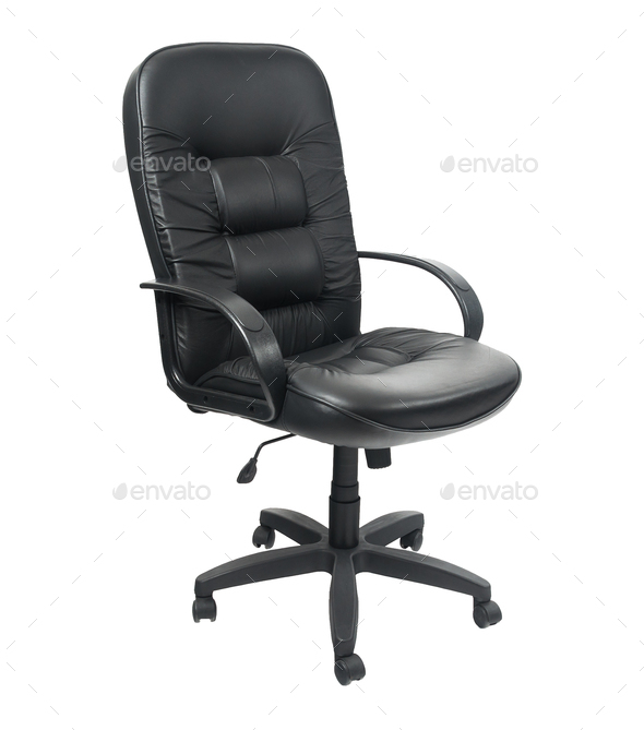 Black Office Spinning Chair Stock Photo