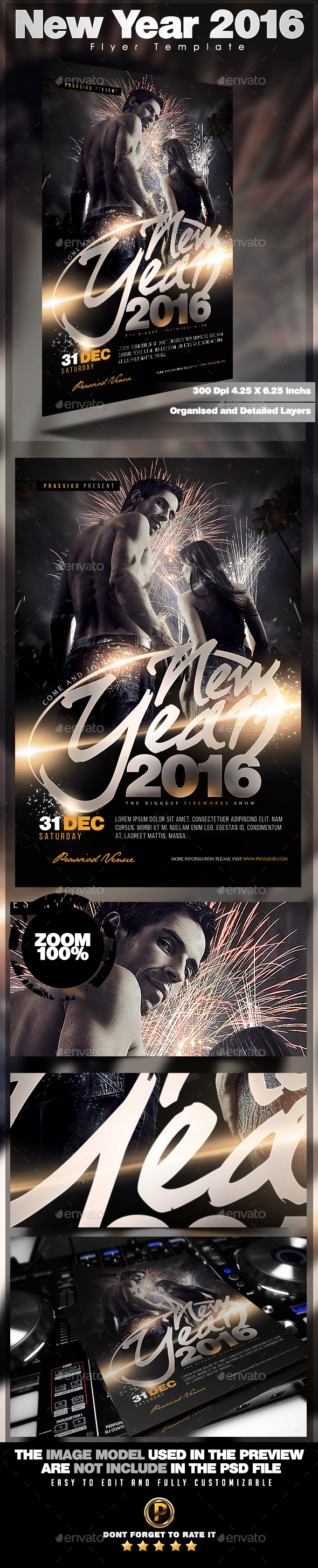 New Year 2016 Flyer Template - Holidays Events