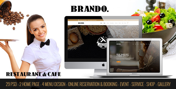 BRANDO – Restaurant & Cafe Online Booking Table