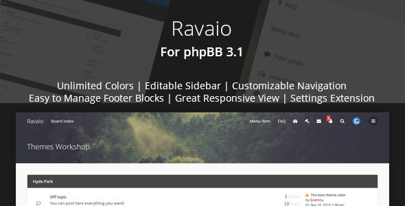 Download Ravaio - Modern Responsive phpBB Forum Theme nulled version