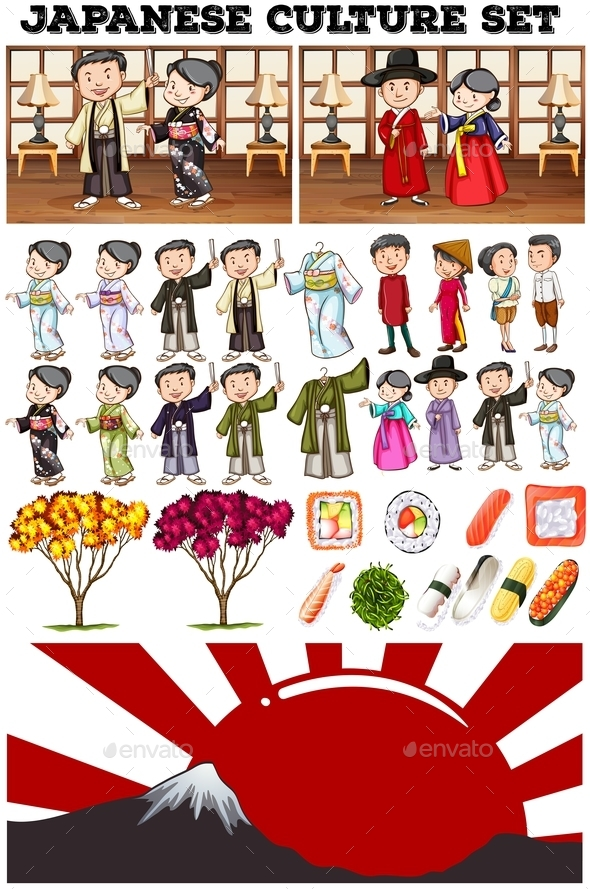 Asian Culture with People in Costume - People Characters