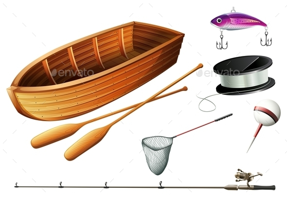 Boat and Fishing Equipments - Miscellaneous Conceptual