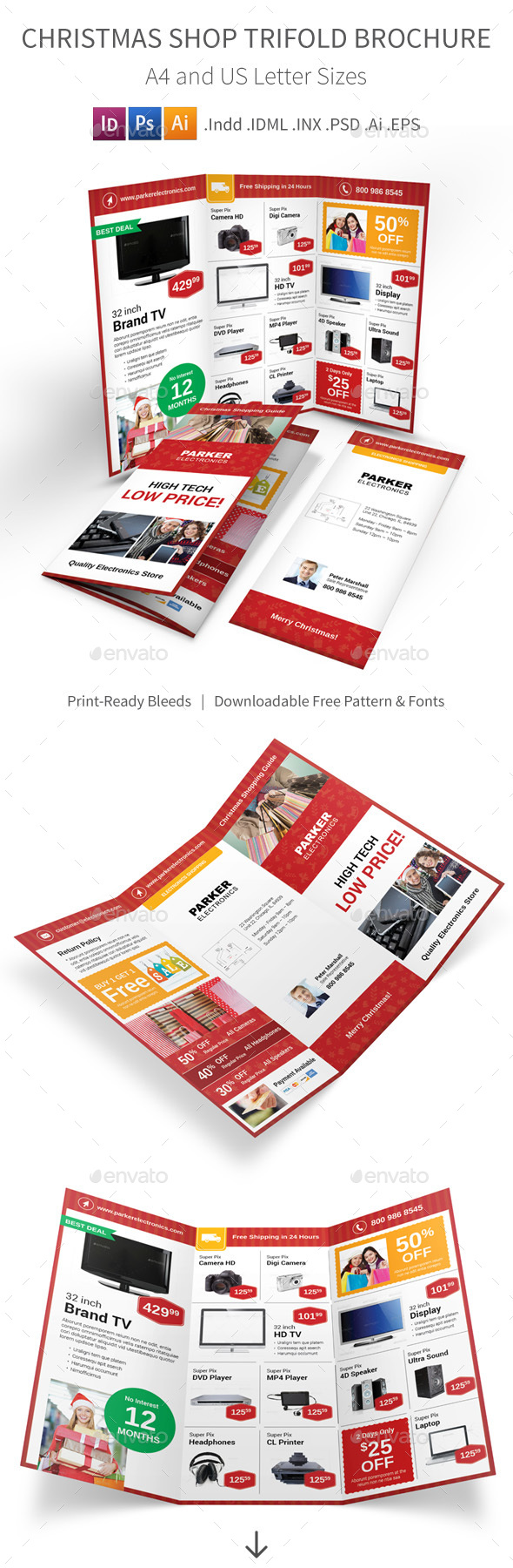 Christmas Shop Trifold Brochure - Corporate Brochures