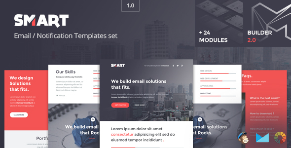 Smart – Modern Email Template + Builder 2.0
