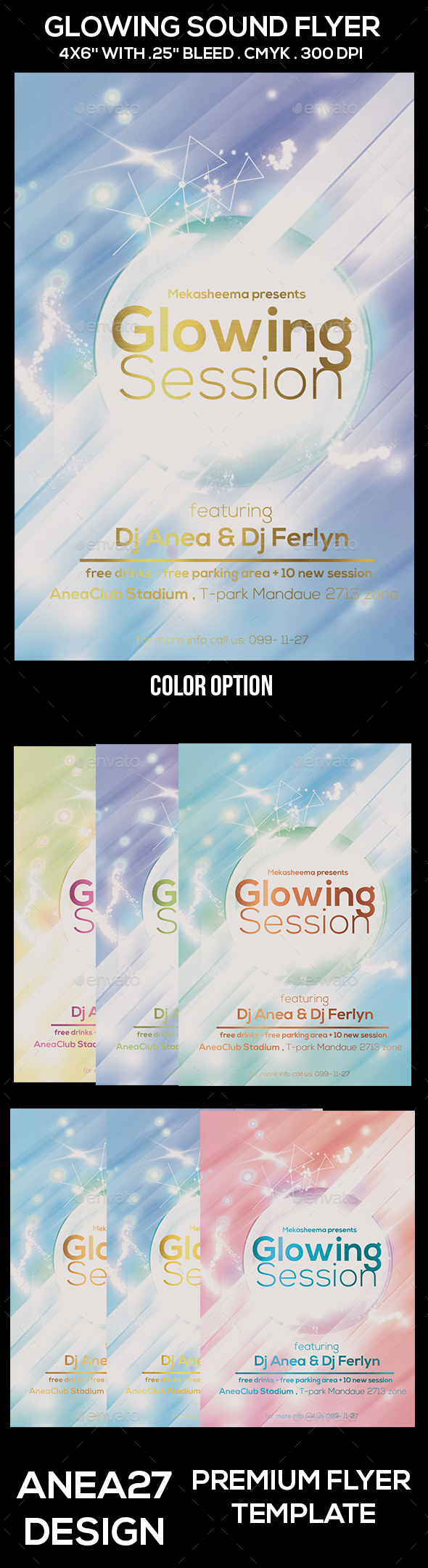 Glowing Session Flyer - Clubs & Parties Events
