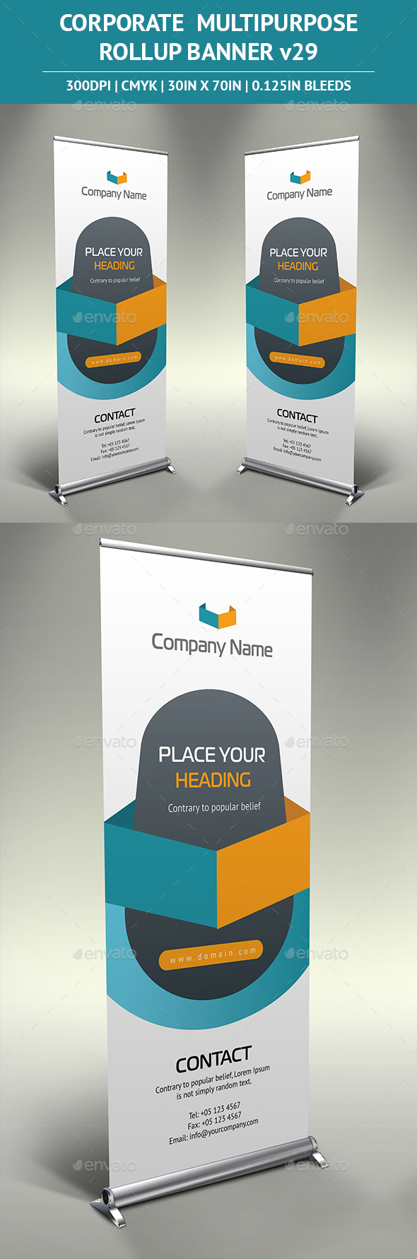Rollup Banner vol29 - Signage Print Templates