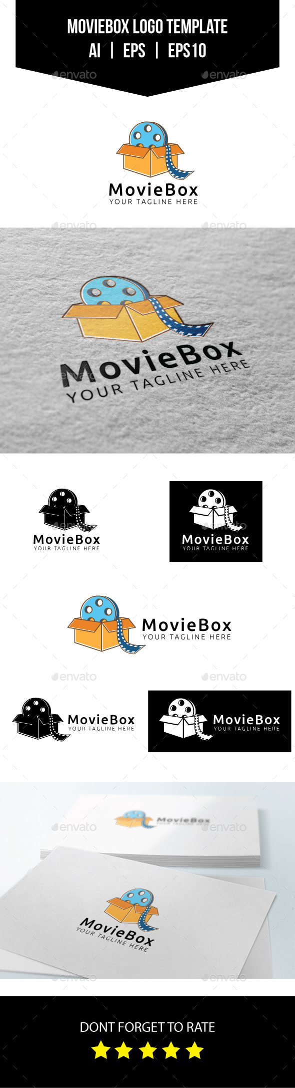 Movie Box Logo Template - Objects Logo Templates